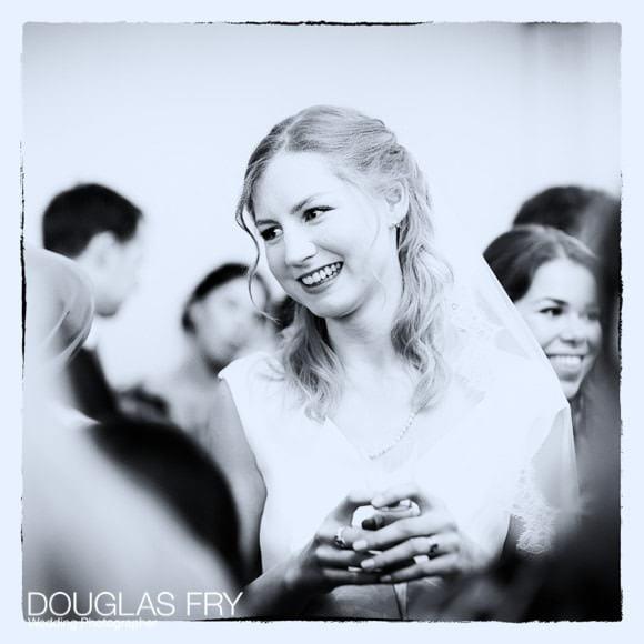 Bride during wedding reception