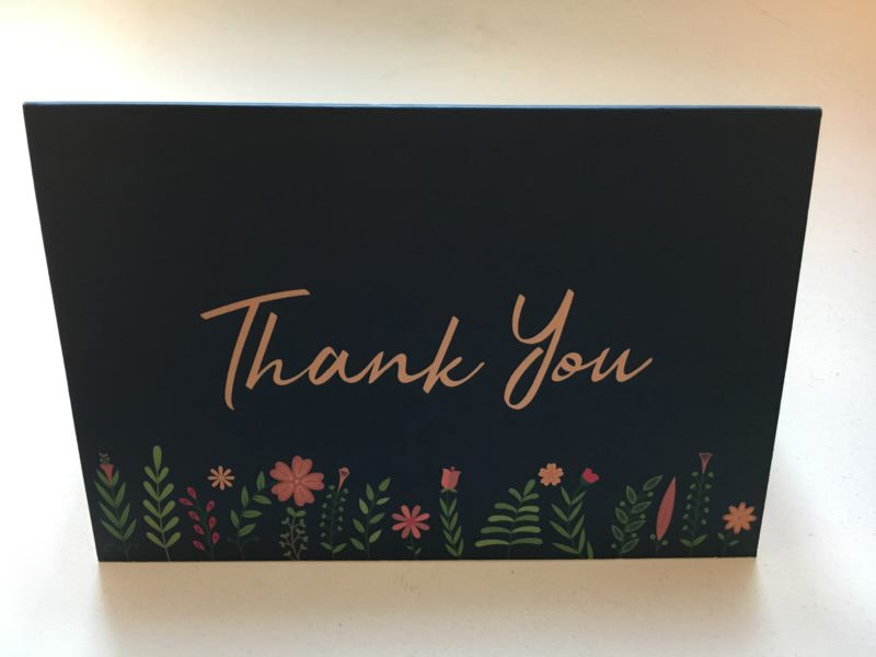 Thank you card from wedding couple