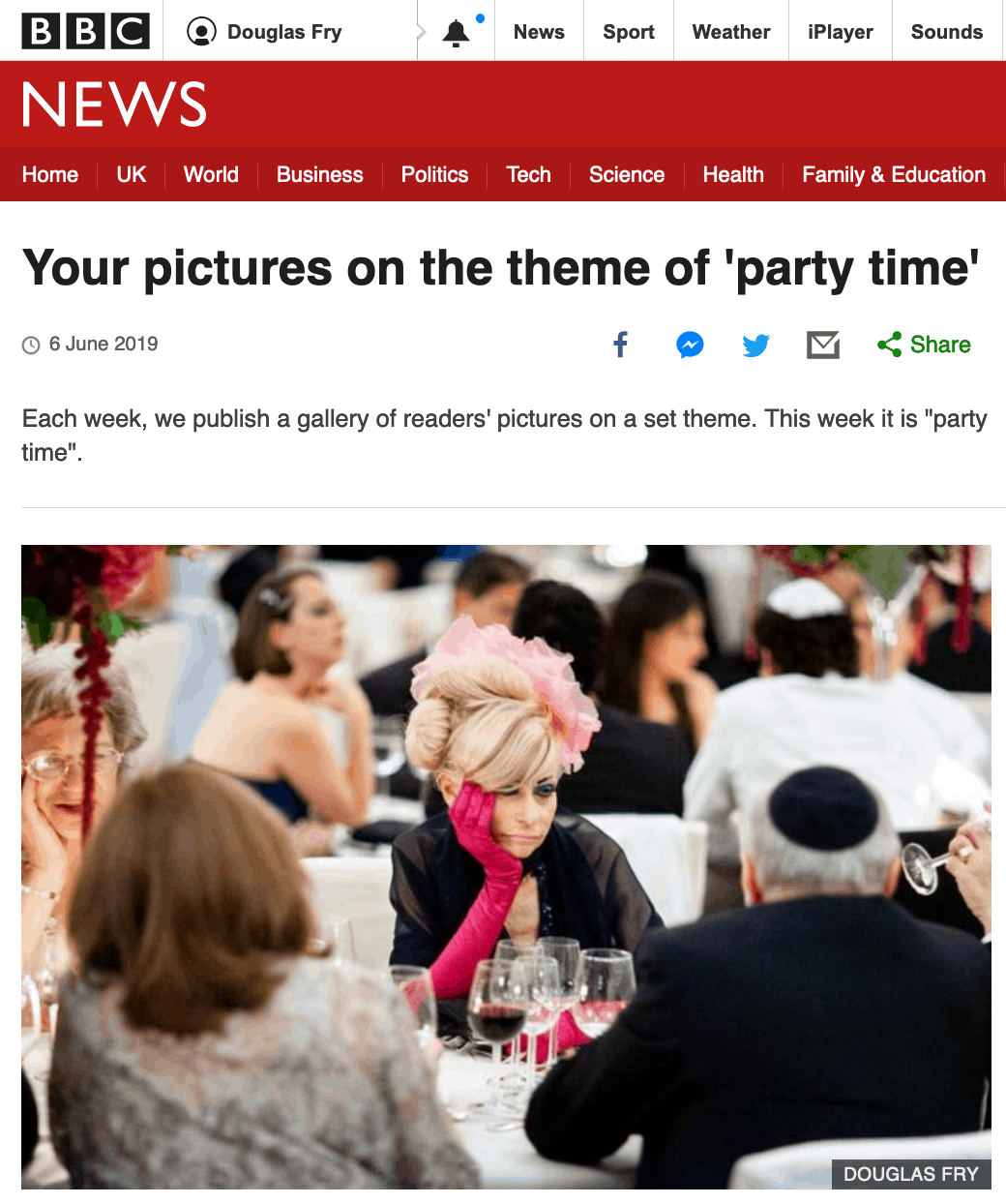 Photograph on BBC News Website taken by Douglas Fry at London Wedding