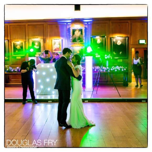 Couple dancing at London wedding