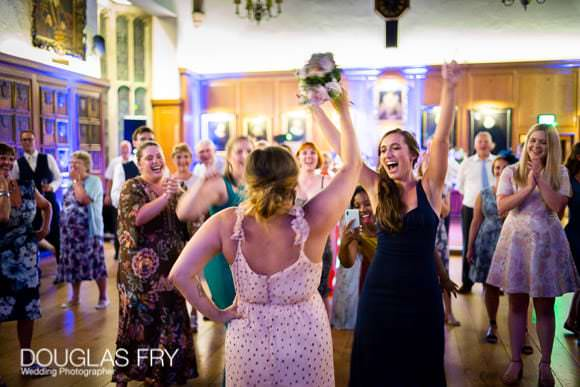 Photography of Bride Throwing Her Wedding Bouquet at Gray's Inn in London! 3