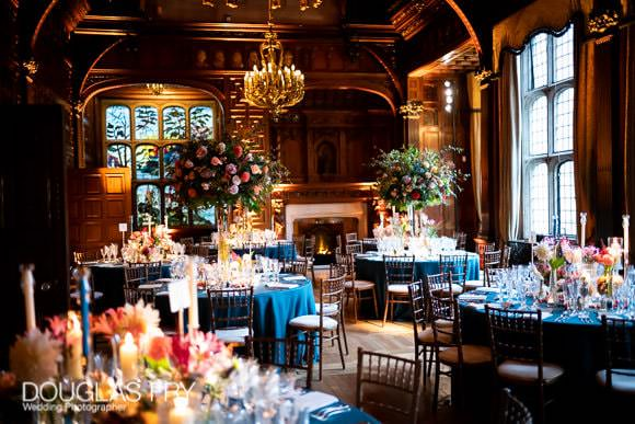Two Temple Place - Tables set for dinner with flowers