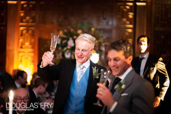Drinking a toast to the couple at Two Temple Place