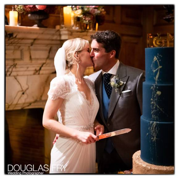 Wedding Photography of cake cutting at Two Temple Place