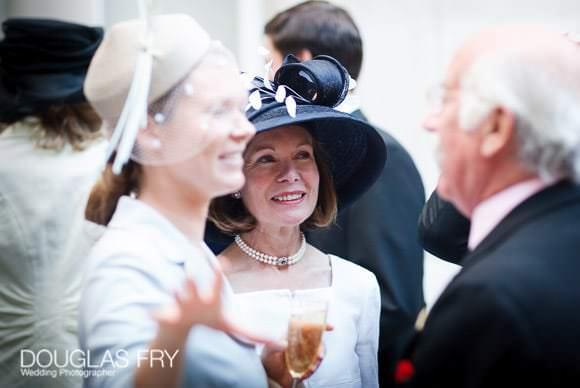 Drinks reception during wedding