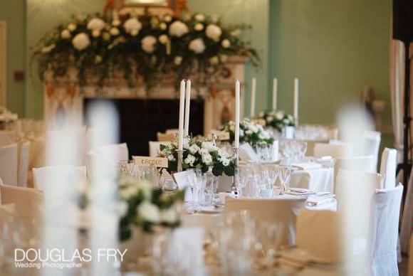 Tables ready for wedding breakfast