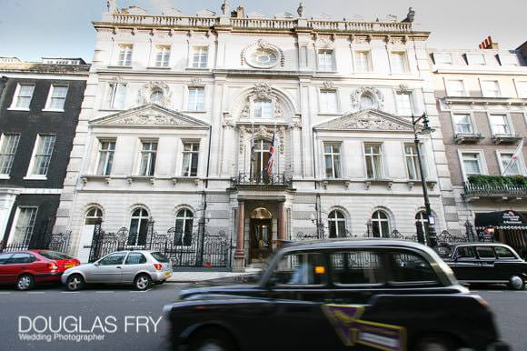 Taxi outside front of Dartmouth House in Mayfair