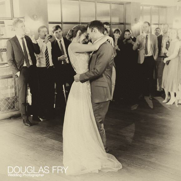 Couple dancing in London during wedding