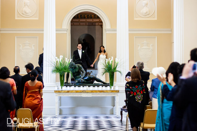 wedding ceremony at syon house