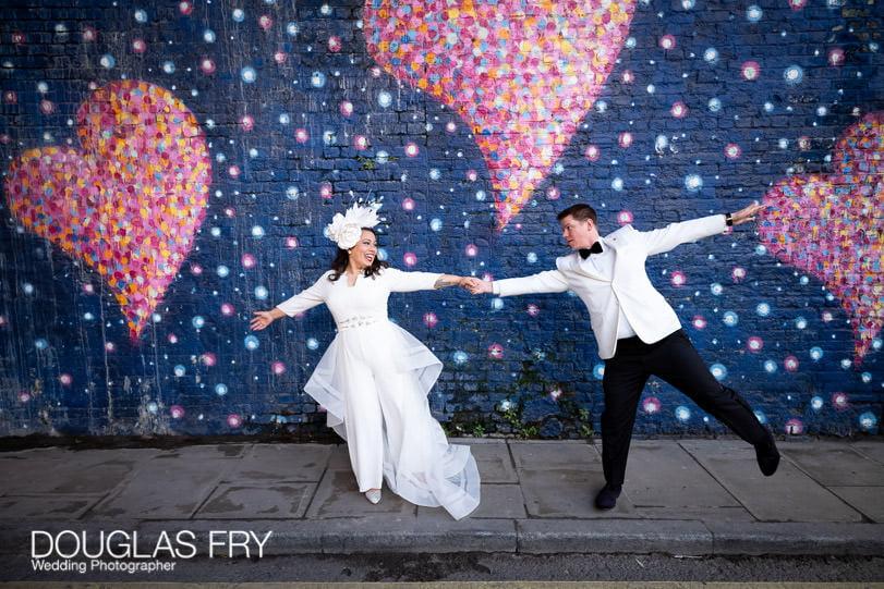 Small wedding photograph taken in London