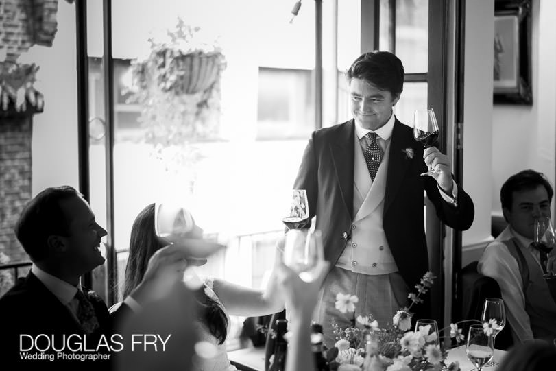 Speeches at London wedding photographed by Douglas Fry