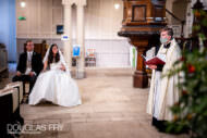 wedding ceremony with social distancing and facemask