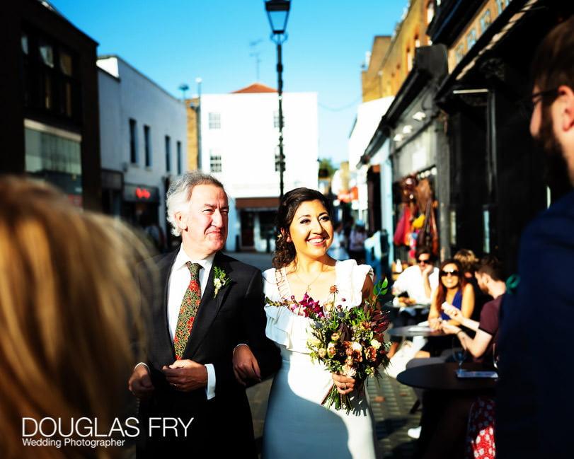 Wedding photograph of socially distanced wedding in London