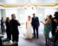 Social distancing at London wedding ceremony