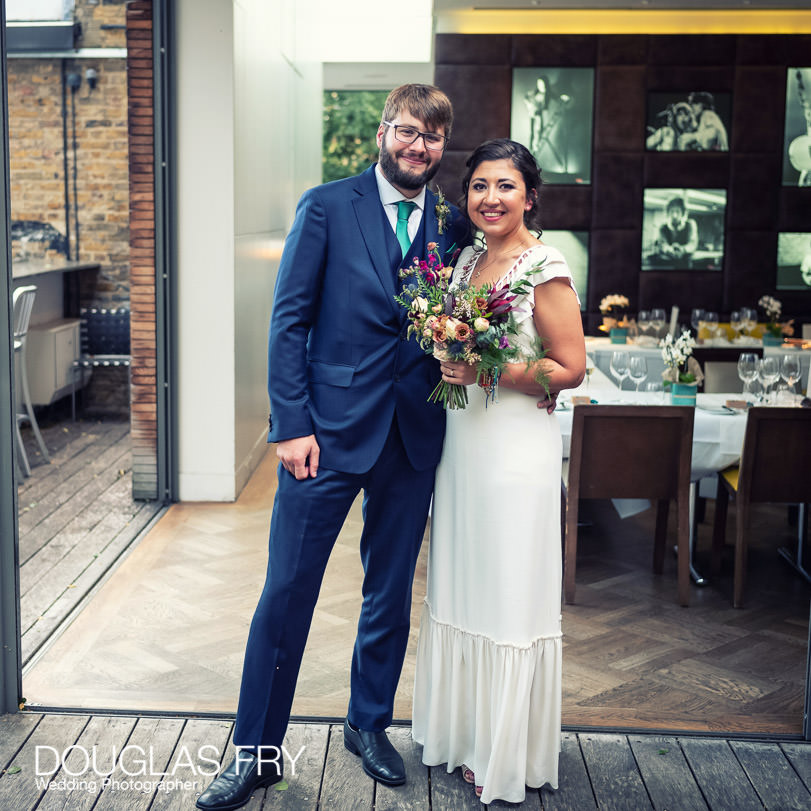 THe couple photographed at London wedding with Covid-19 restrictions