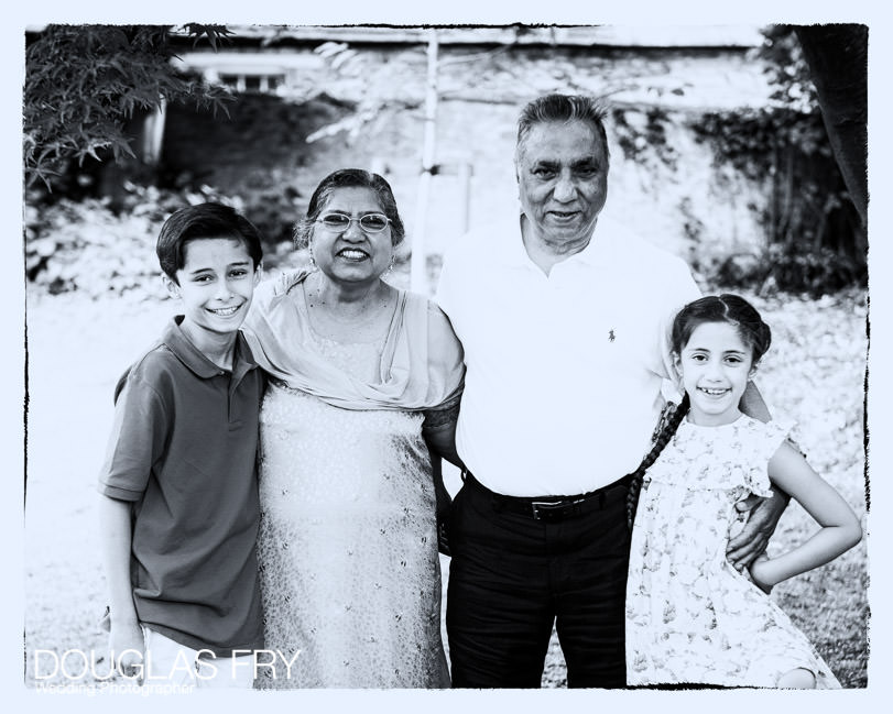 Grandparents photographed with the grandchildren in Oxfordshire