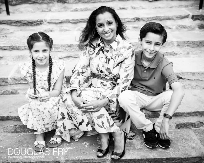 Mother and children photographed together