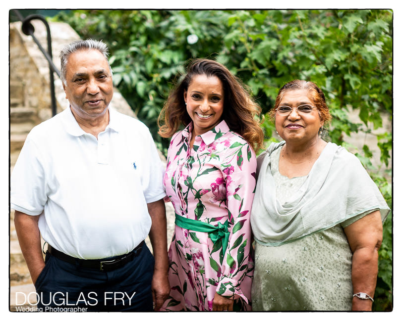 Grandparents photographed with family members