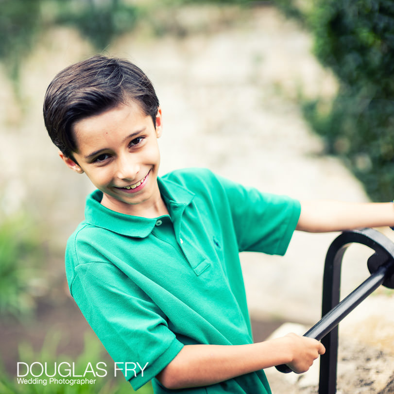 Son photographed in Oxford garden