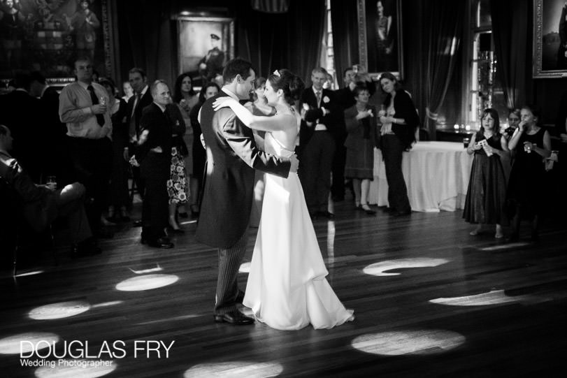 Bride and groom dancing at HAC