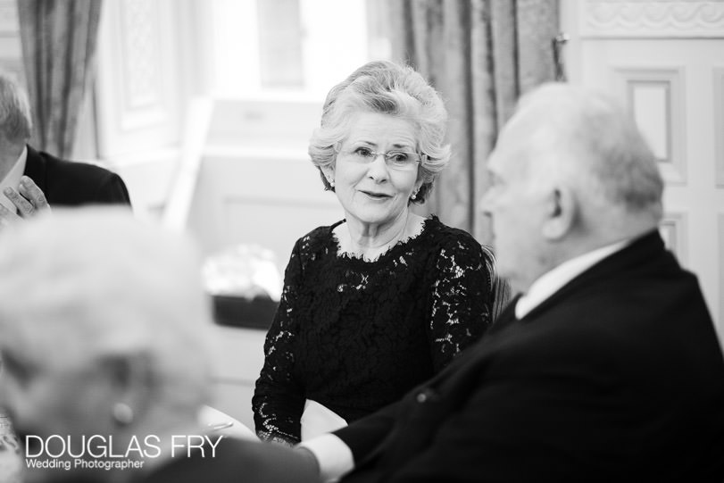 Birthday Party Photographer London - black and white dinner photograph