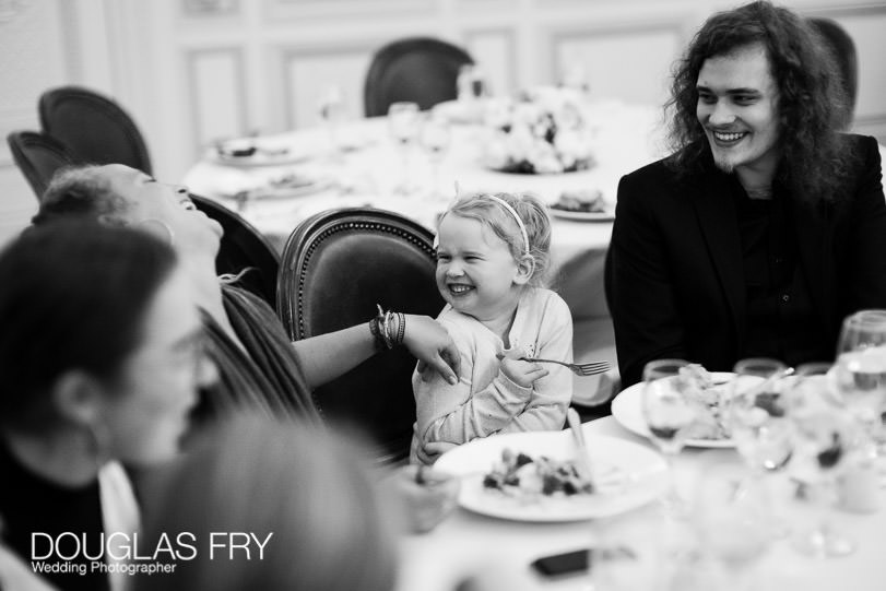 child laughing during birthday party in London