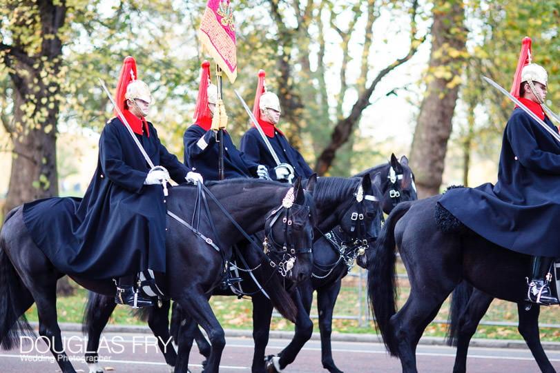 London wedding photographer cavalry photography at buckingham palace