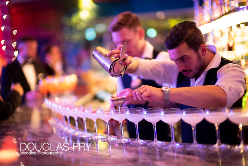 bar in London photographed with Leica Noctilux Lens in low light - London wedding photographer