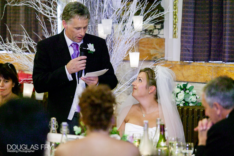 Wedding Photographer One Great George Street London - bride and father