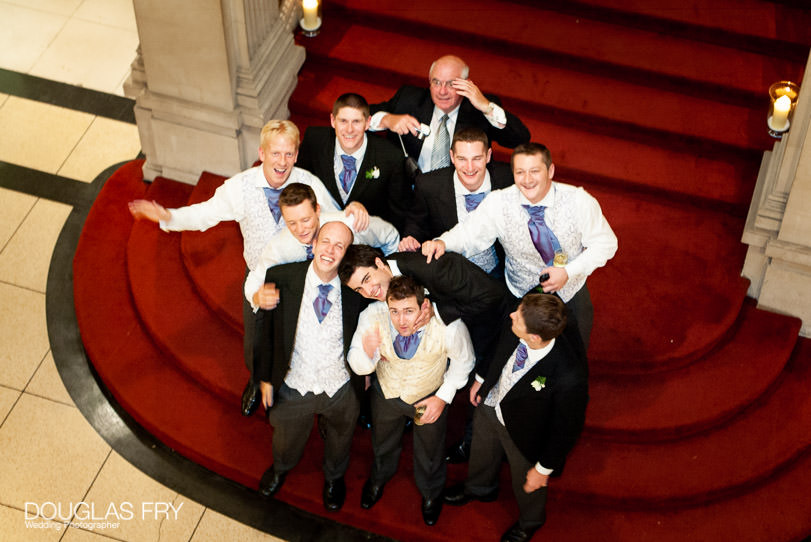 Wedding Photographer One Great George Street London - the stairs