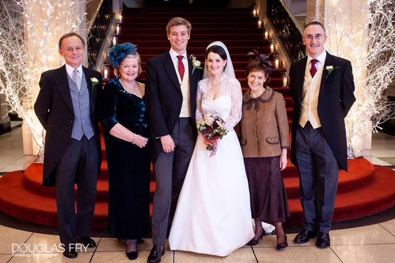 Wedding Photographer One Great George Street London - formal family photograph