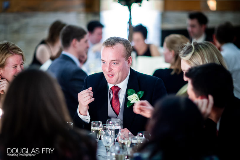 Wedding Photographer One Great George Street London - guests at dinner