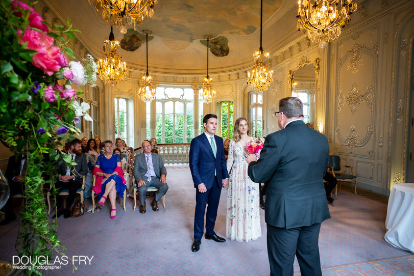 Wedding ceremony at Savile Club in London