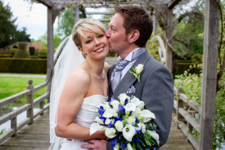 Wedding photographer at Great Fosters Hotel